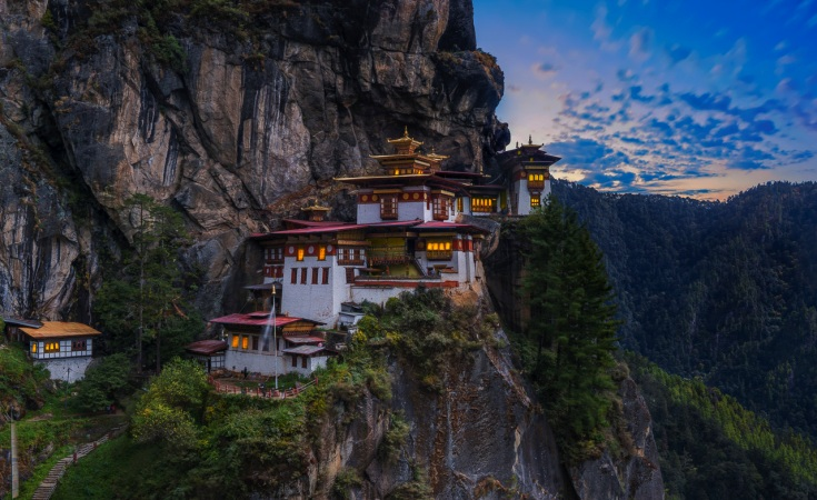 The spectacular scenery of Bhutan
