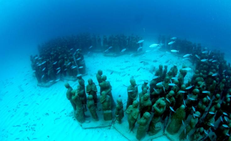 Innovation meets breath taking beauty at the Cancun Underwater Museum