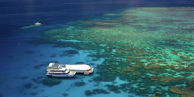Base for the day trip out to the Outer Great Barrier Reef