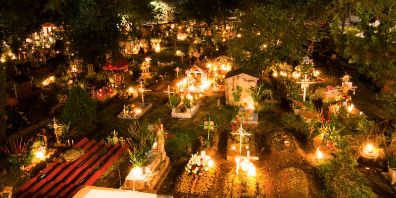 The altar at the cemetery
